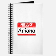 Hello My name is Ariana Journal
