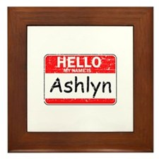Hello My name is Ashlyn Framed Tile