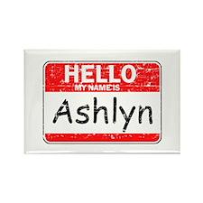 Hello My name is Ashlyn Rectangle Magnet