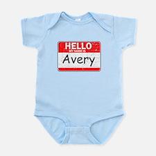 Hello My name is Avery Infant Bodysuit