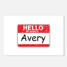 Hello My name is Avery Postcards (Package of 8)