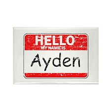 Hello My name is Ayden Rectangle Magnet