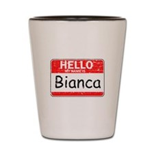 Hello My name is Bianca Shot Glass