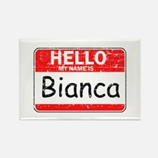 Hello My name is Bianca Rectangle Magnet