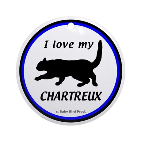 Chartreux Cats Ornament (Round)