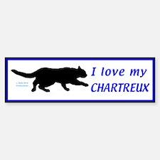 Chartreux Cats Bumper Bumper Sticker