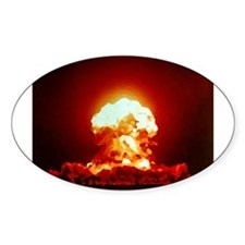 Nuclear Explosion Oval Decal