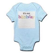 our birtday_white Body Suit