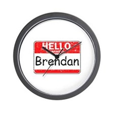 Hello My name is Brendan Wall Clock