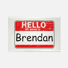 Hello My name is Brendan Rectangle Magnet