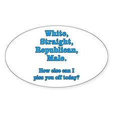 White Straight Republican Male Bumper Stickers