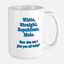 White Straight Republican Male Large Mug