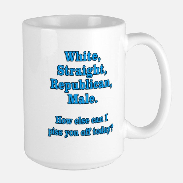 White Straight Republican Male Large Mug