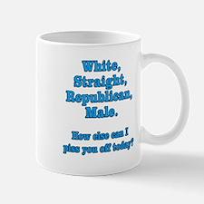 White Straight Republican Male Small Mugs