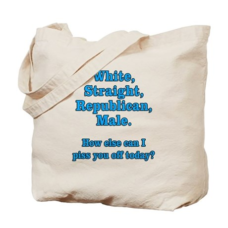 White Straight Republican Male Tote Bag