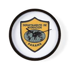 Panama Immigration Wall Clock