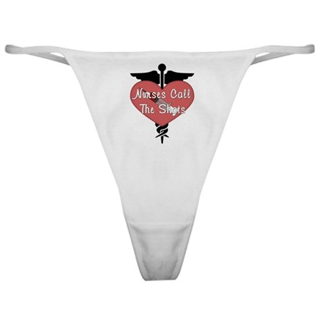 Nurses Call The Shots Classic Thong
