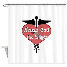 Nurses Call The Shots Shower Curtain