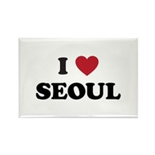 I Love Seoul Rectangle Magnet