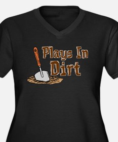 Plays In Dirt Garden Shirt Women's Plus Size V-Nec