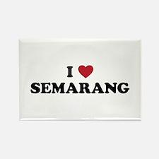 I Love Semarang Rectangle Magnet