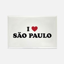 I Love Sao Paulo Rectangle Magnet