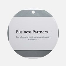 Business Partners Ornament (Round)