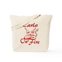 Carla On Fire Tote Bag