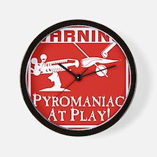 Pyromaniac At Play Wall Clock