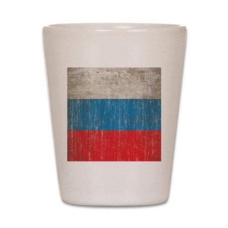 Vintage Russia Flag Shot Glass