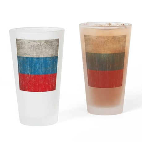 Vintage Russia Flag Drinking Glass