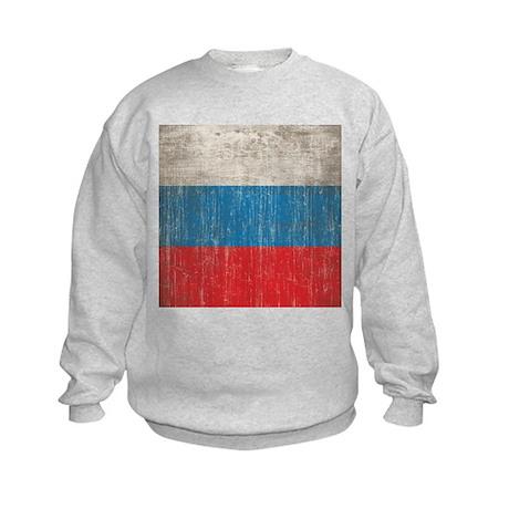 Vintage Russia Flag Kids Sweatshirt
