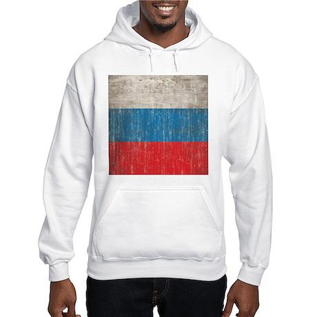 Vintage Russia Flag Hooded Sweatshirt