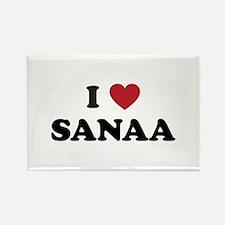 I Love Sanaa Rectangle Magnet