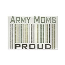 Military Army Moms Proud Rectangle Magnet