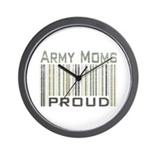 Military Army Moms Proud Wall Clock