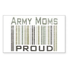 Military Army Moms Proud Rectangle Decal