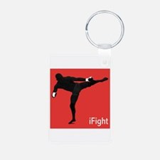 iFight (red) Keychains