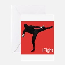 iFight (red) Greeting Card
