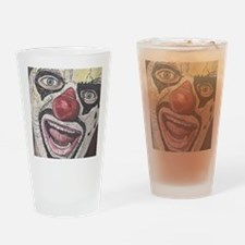 Gothic Clown Drinking Glass