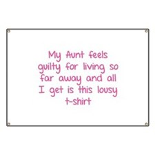 My aunt feels guilty for living so far away Banner