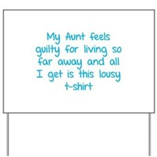 My aunt feels guilty for living so far away Yard S