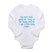 My aunt feels guilty for living so far away Onesie Romper Suit