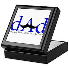 Blue Dad Mustache Keepsake Box