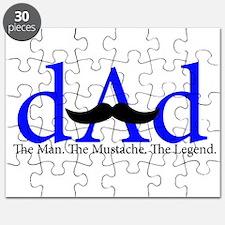 Blue Dad Mustache Puzzle