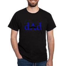 Blue Dad Mustache T-Shirt