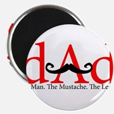 """Red Dad Curly Mustache 2.25"""" Magnet (100 pack)"""