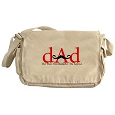 Red Dad Curly Mustache Messenger Bag