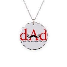 Red Dad Curly Mustache Necklace