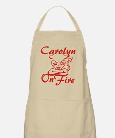 Carolyn On Fire Apron
